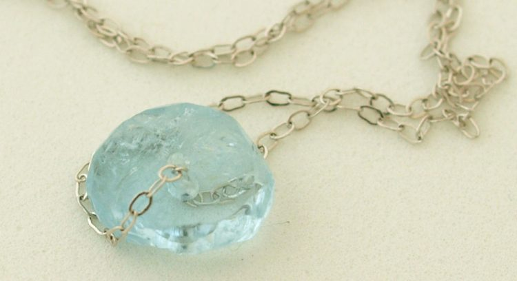 aquamarine pendant - How to start jewelry making