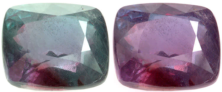 26.75 carat natural cushion cut alexandrite. Alexandrite of this size is extremely rare regardless of its lower clarity - Credit to David Weinberg - CC-BY-SA-3.0