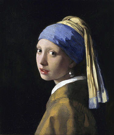 Girl with a pearl earring by Johannes Vermeer - notice the ultramarine turban.