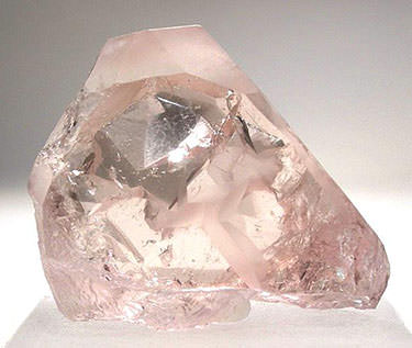 pink morganite crystal from california