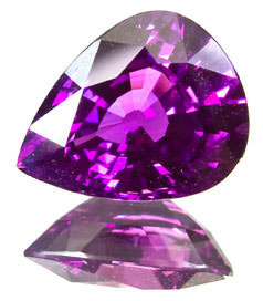 pear cut purple sapphire not called ruby
