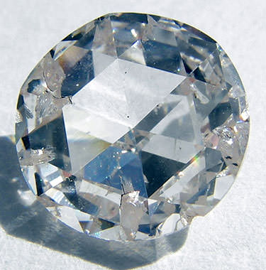 synthetic diamond with inclusions