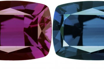 Whitney Alexandrite - composite image of the alexandrite color change