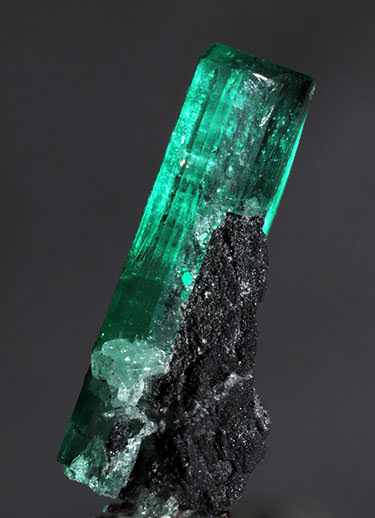 emerald crystal on matrix