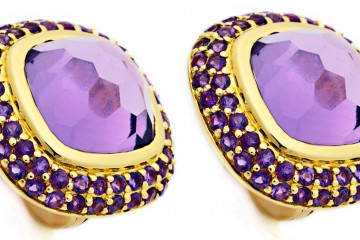 Amethyst earrings in yellow gold - is it safe to mail jewelry?