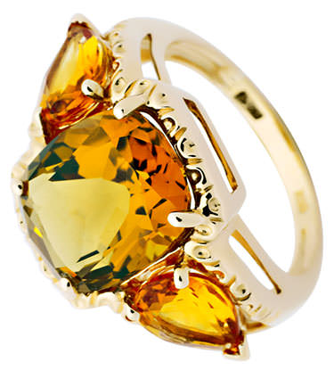 Citrine ring in yellow gold