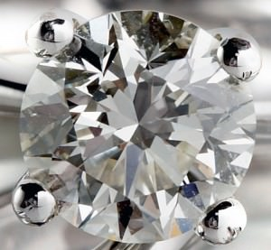Closeup of a SI2 clarity diamond