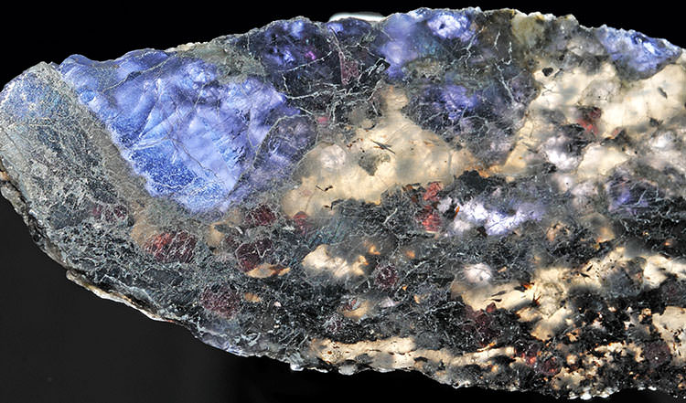A stunning rough iolite crystal from Minas Gerais, Brazil