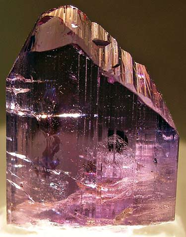Violet-purple zoisite crystal