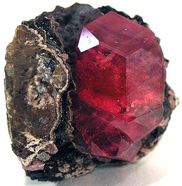Rhodochrosite and goethite