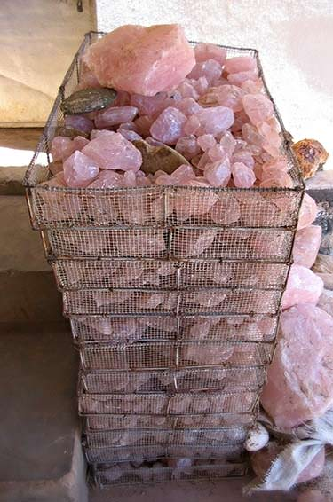 Rough rose quartz is quite cheap and can be found in large quantities