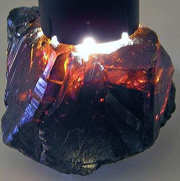 Dark red sphalerite from Bulgaria