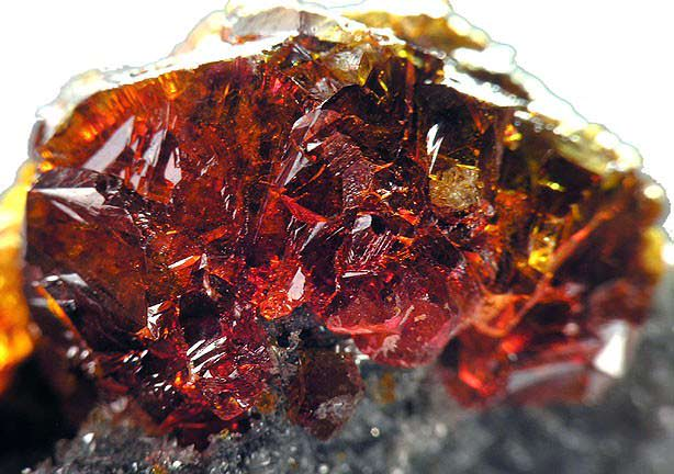 Red orange sphalerite from China