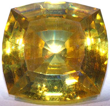 Yellow sphalerite gemstone