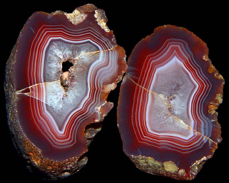 Agate slices from Mexico