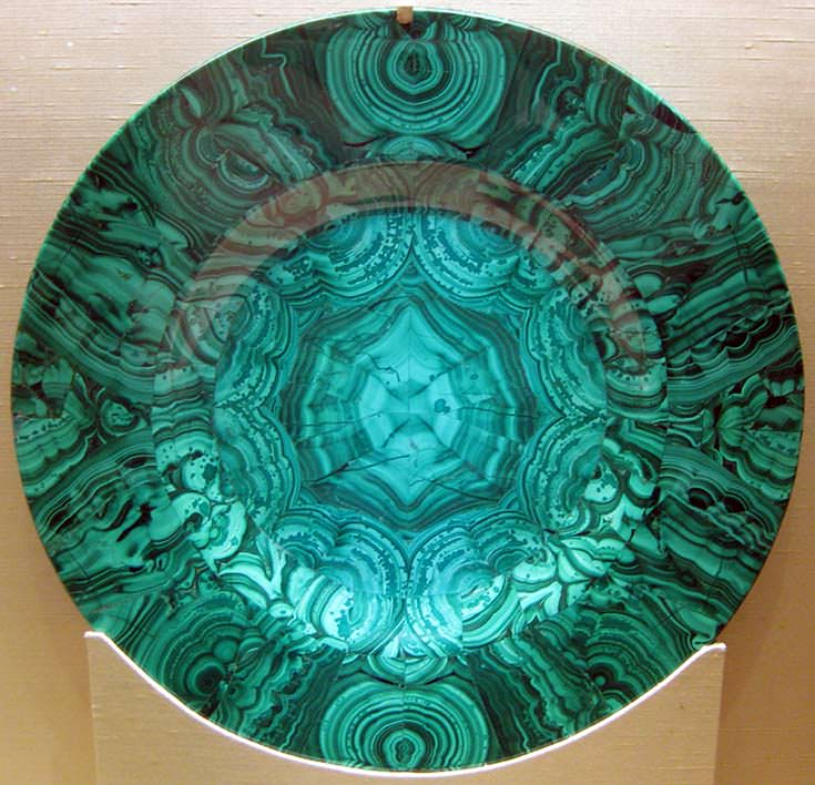 Malachite dish, Russia, 19th century