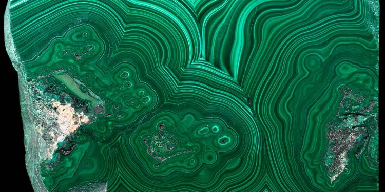 Polished malachite from Katanga, DRC (Congo)