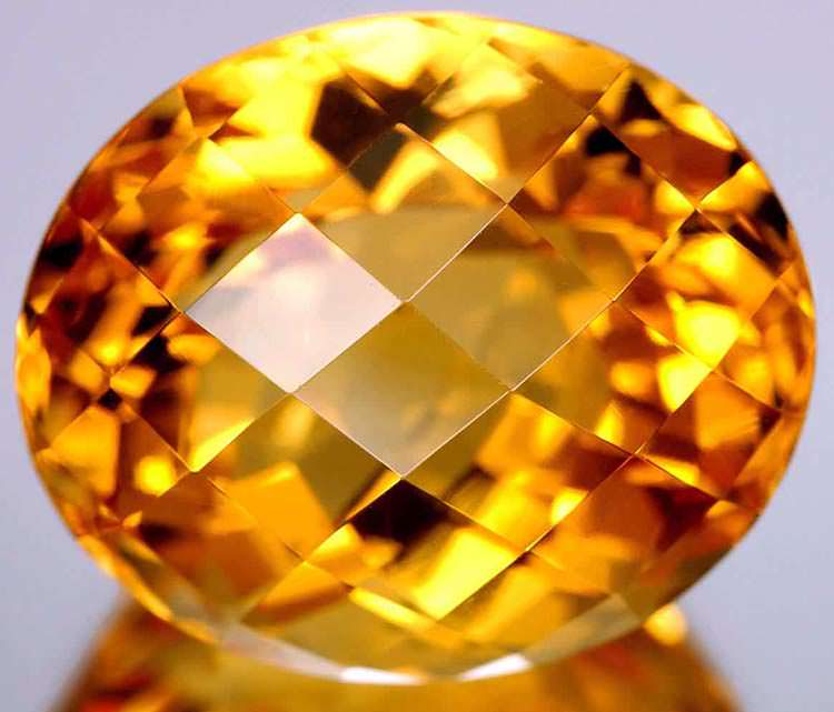 Oval cut citrine gemstone - find the best online gemology schools