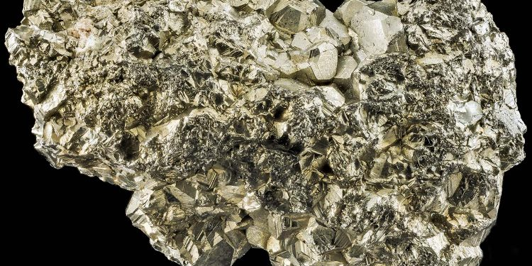 This piece of pyrite showcases why it is easy to mistake it for gold