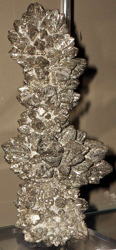 Pyrite from Ohio, USA - in most pyrite it is hard to recognize its natural cubic form
