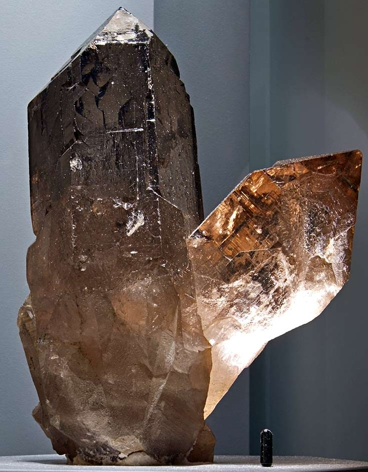 Smoky quartz crystals from Switzerland