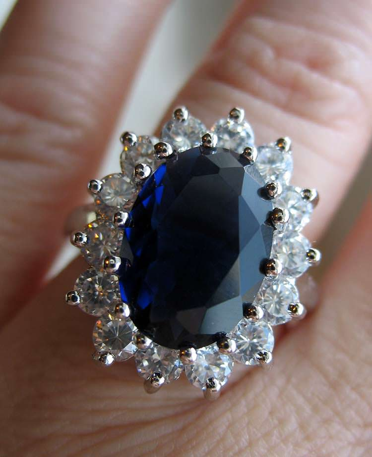 Blue sapphire and diamonds ring - rings like these can last a lifetime!