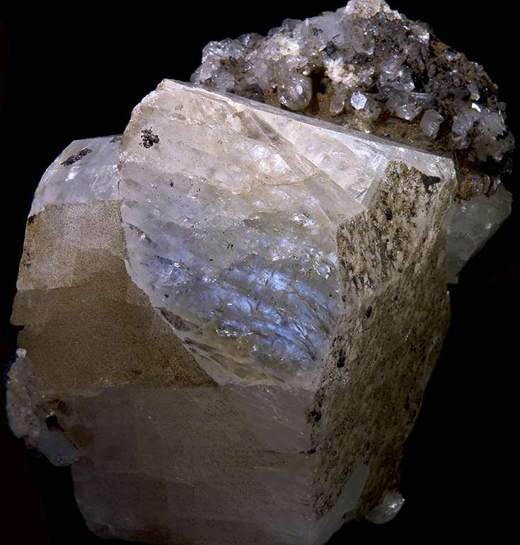 Rough moonstone showing adularescence