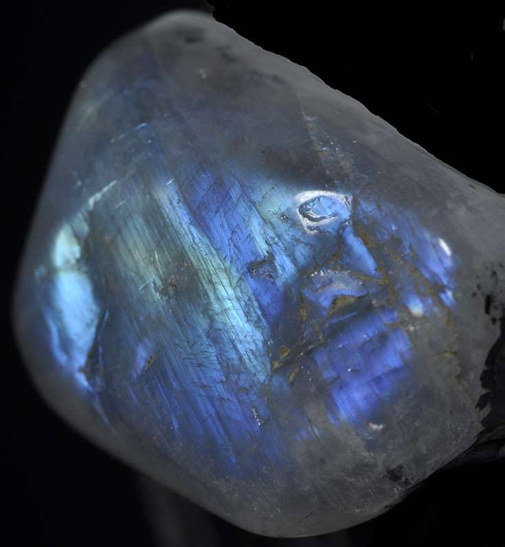 Polished moonstone from India