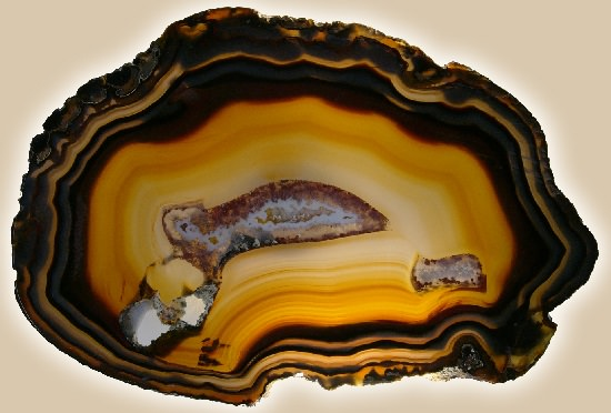 Polished agate slice very affordable gemstone