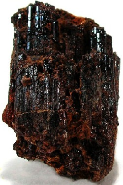 Reddish brown painite crystal
