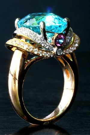 Paraiba tourmaline ring one of the most expensive gemstones in the world