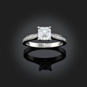 Young girls may well put on a miniature ring of white gold with a tiny diamond