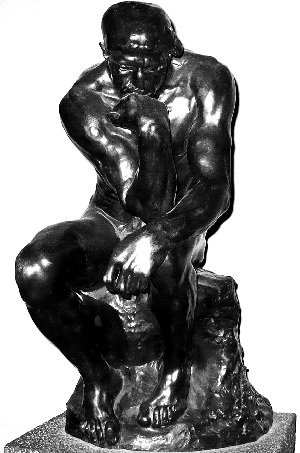 the thinker onyx statue