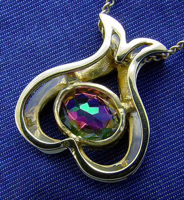 mystic topaz pendant coating treatment