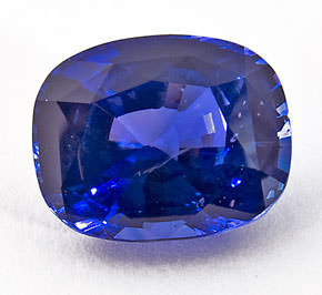 cushion cut blue sapphire gemstone treatments