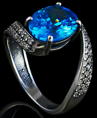 Blue topaz ring in sterling silver - is it safe to mail jewelry?
