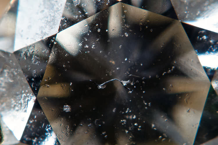 Extreme close-up of a diamond