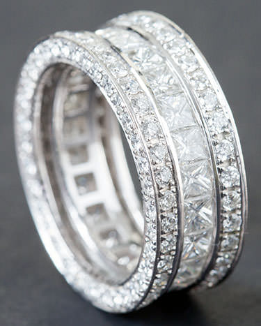 Stackable diamond rings - how to clean diamond jewelry at home