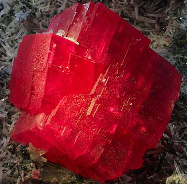 Rhodochrosite crystal called The Searchlight