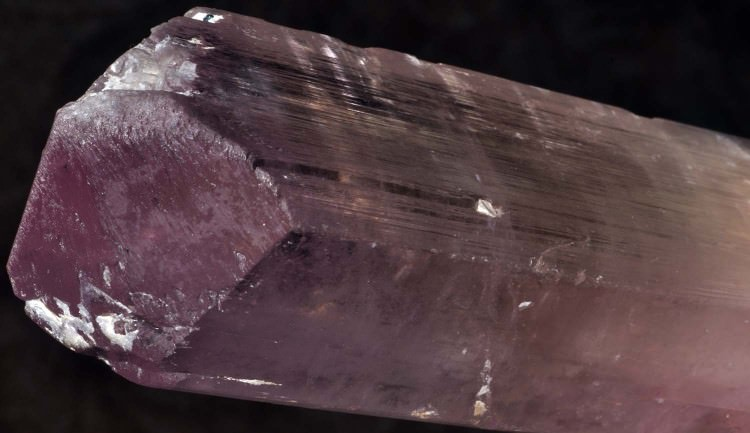 Kunzite crystal from Afghanistan - click to enlarge