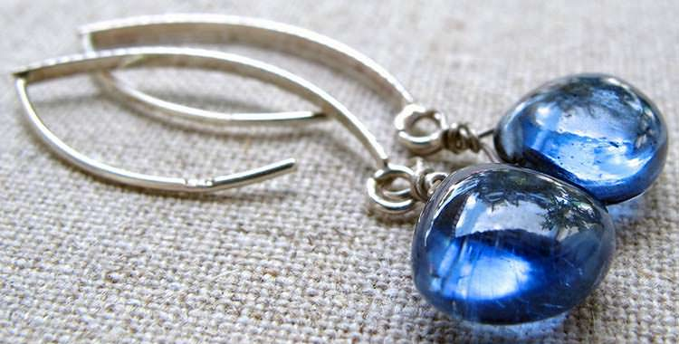 Kyanite earrings - earrings are an excellent jewelry choice as they protect the fairly fragile kyanite
