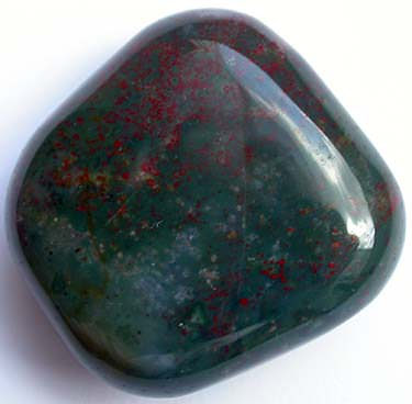 Heliotrope stone - more commonly known as bloodstone