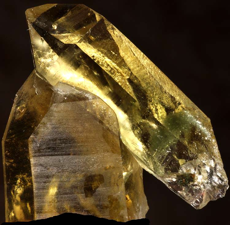 Stacked citrine crystals