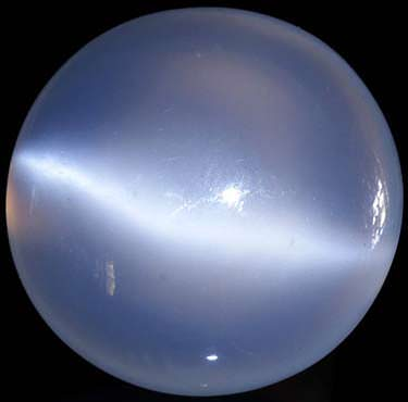 Polished moonstone cabochon from Brazil