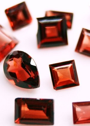 Red garnet collection, January birthstone