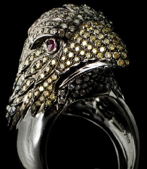 sell jewelry commissions eagle ring